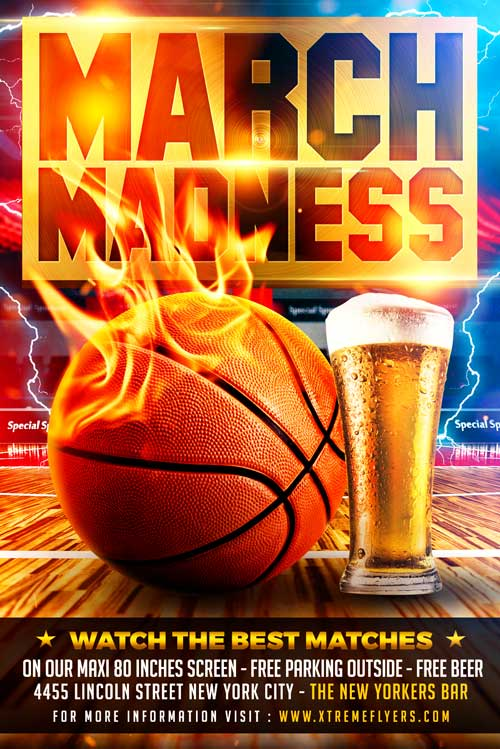 march madness flyer template