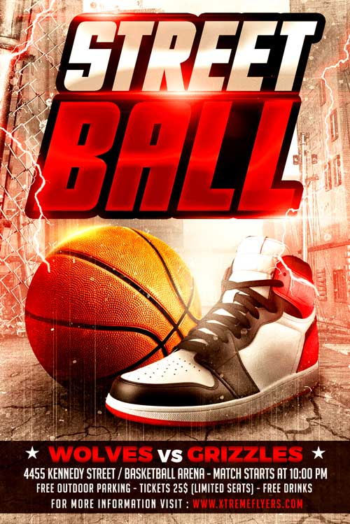 Streetball Flyer Template