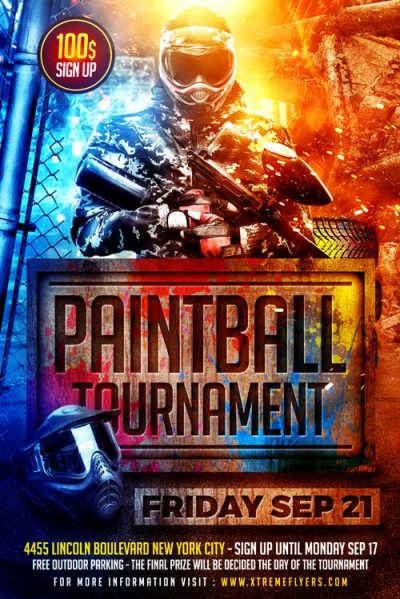 Paintball PSD Flyer Template