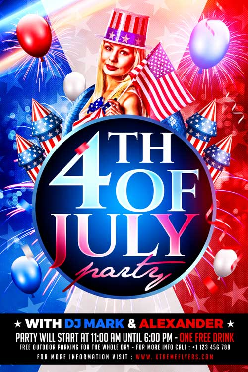 4th of July Independence Flyer Template