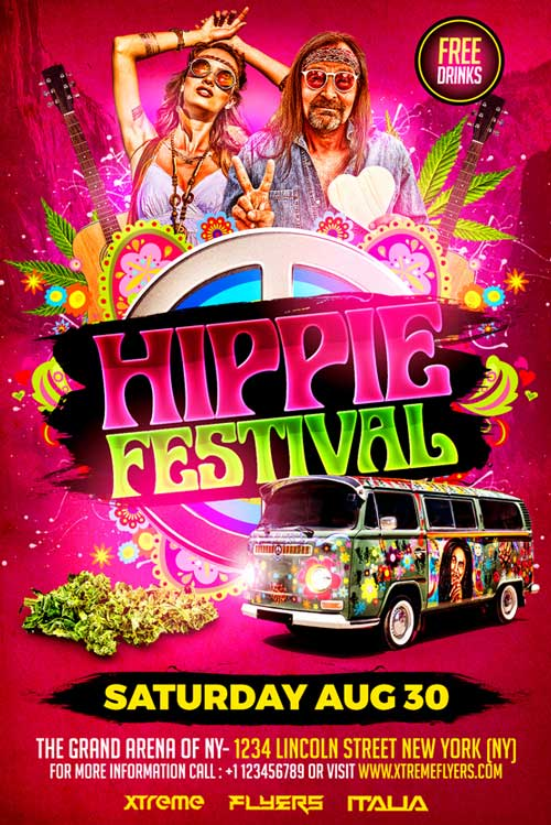 Hippies Flyer Template
