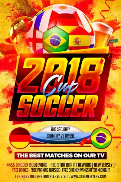 World Cup PSD Flyer Template
