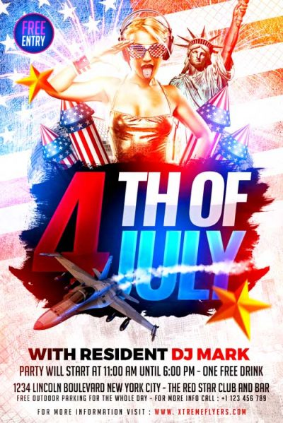 4th Of July 2018 Flyer Template