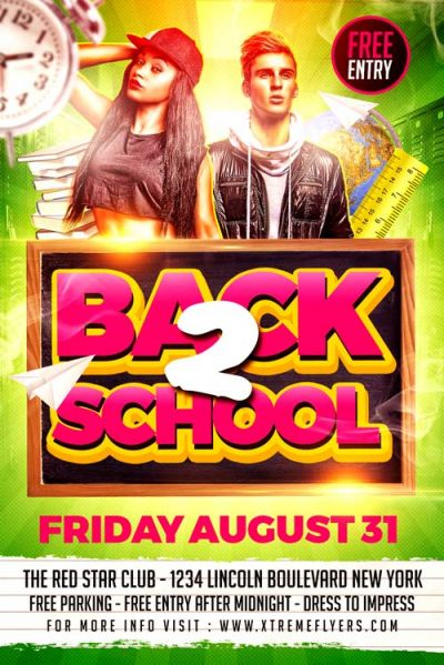 Back to School College Flyer Template
