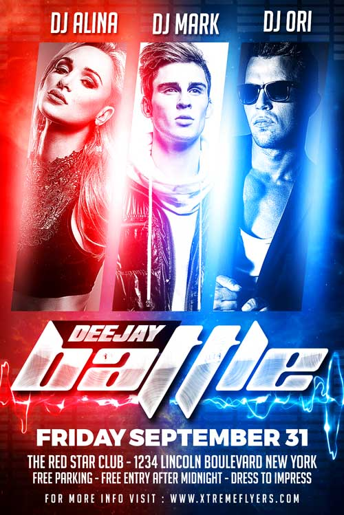DJ Battle Flyer Template