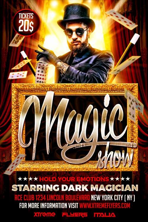 Magic Show Flyer Template