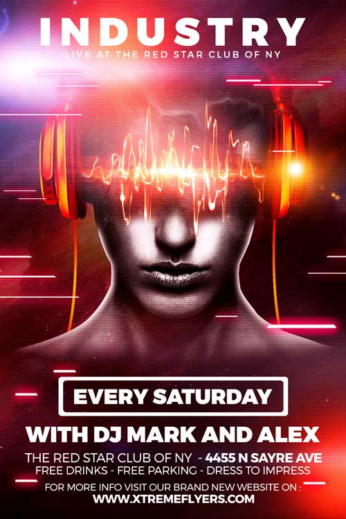 Club Industry Flyer Template