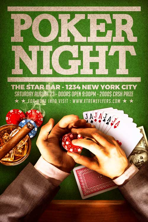 Poker Flyer Template