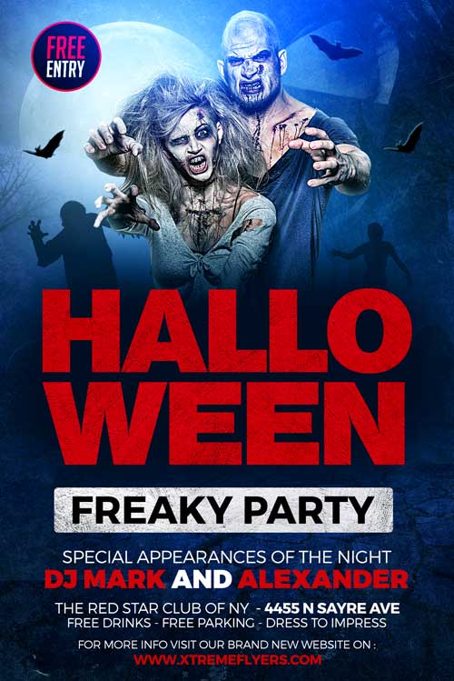 free halloween party flyer template xtremeflyers
