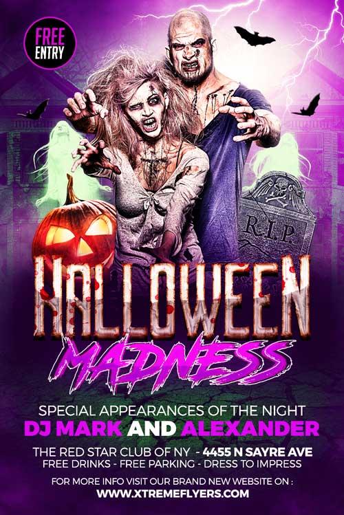 Halloween Madness Flyer Template