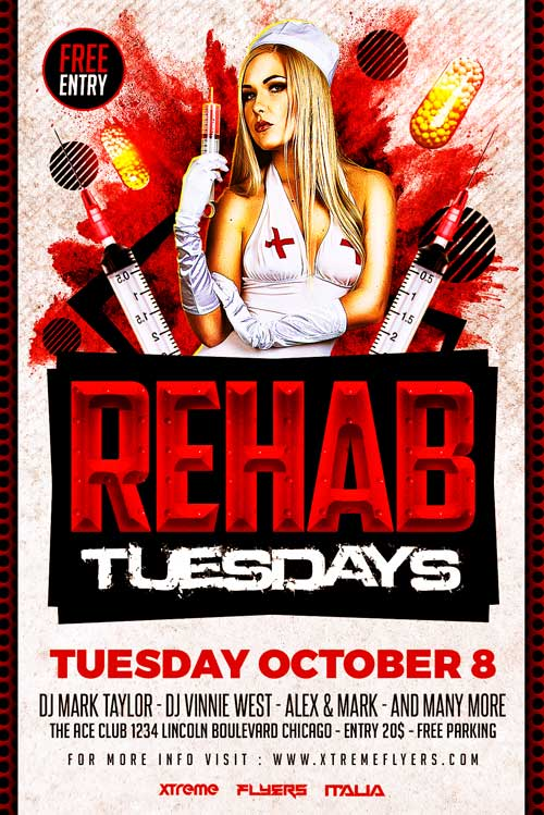 Rehab Flyer Template