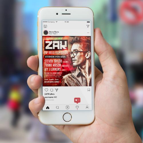 DJ Zak Flyer Template 2