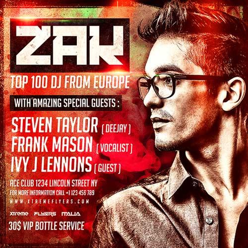 DJ Zak Flyer Template