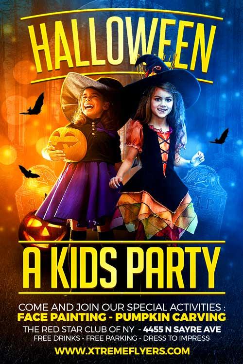 Halloween Kids Party Flyer Template