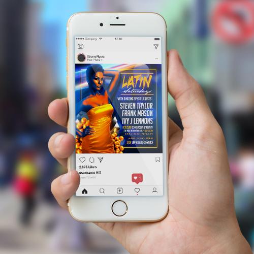 Latin Night PSD Flyer Template 2