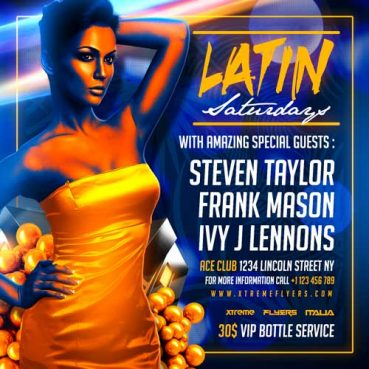 Latin Night PSD Flyer Template