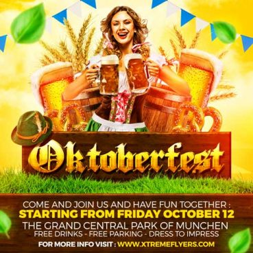 Oktoberfest Square Flyer Template