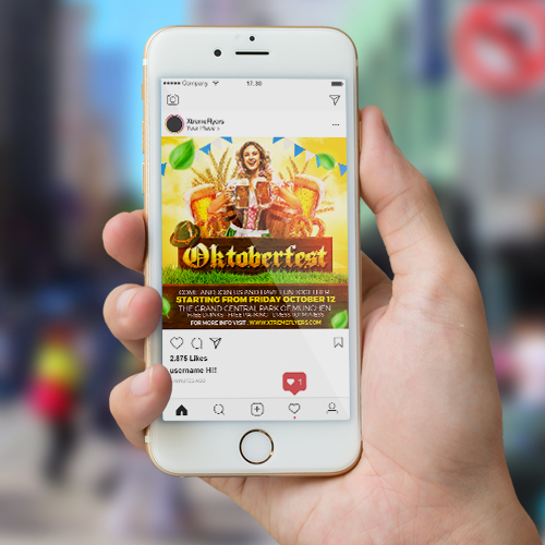 Oktoberfest Square Flyer Template Instagram