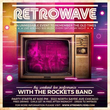 Retrowave Flyer Template