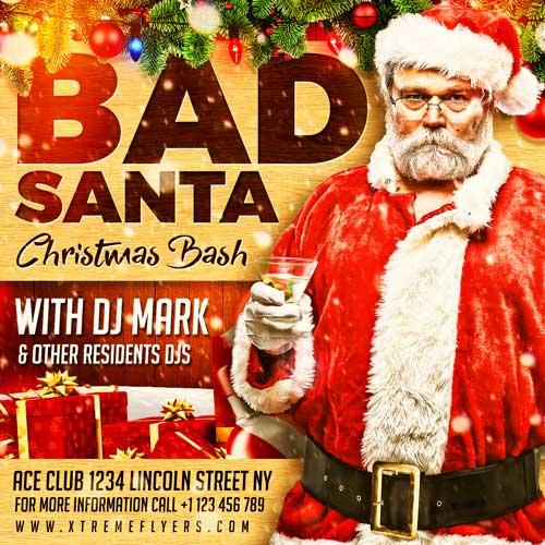 Bad Santa Flyer Template