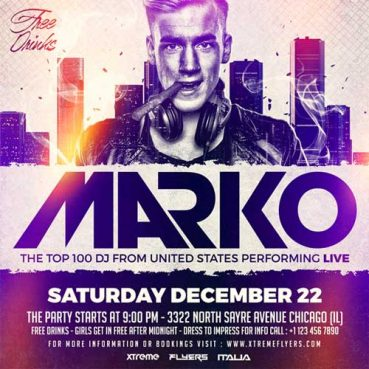 DJ Marko Flyer Template
