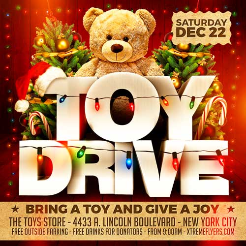 toy drive flyer template xtremeflyers