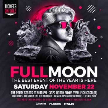 Fullmoon Party Flyer