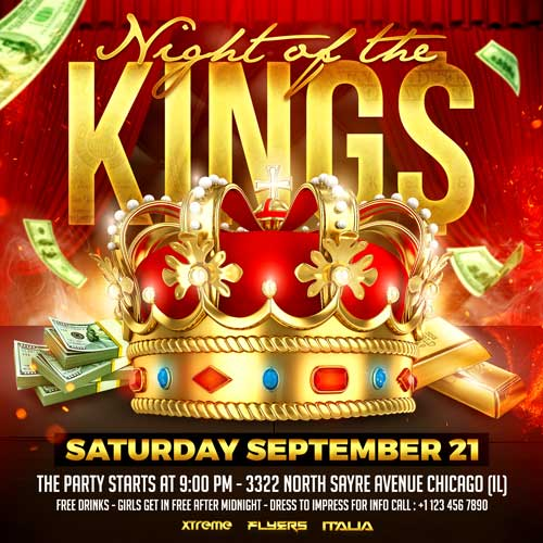 Night Of The Kings Flyer Template