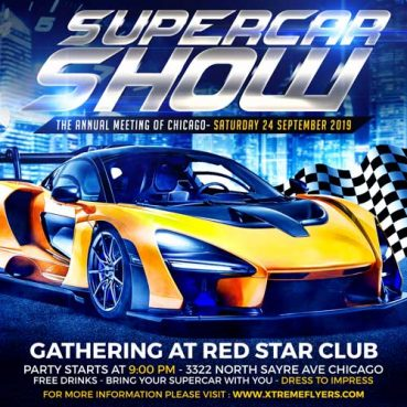 Supercar Show Flyer Template