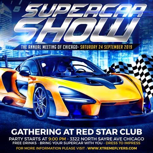 Supercar Show Flyer Template