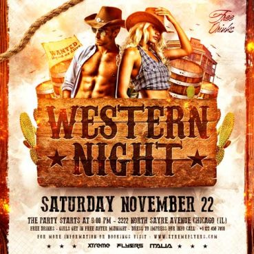 Western Square Flyer Template