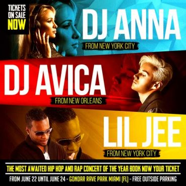 Battle of the DJs Flyer Template