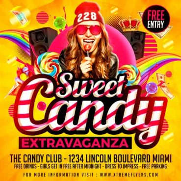 Candy Party Flyer Template