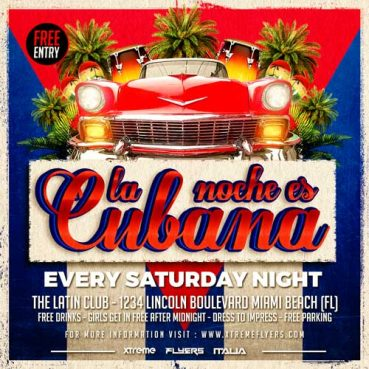 Cuban Night Flyer Template
