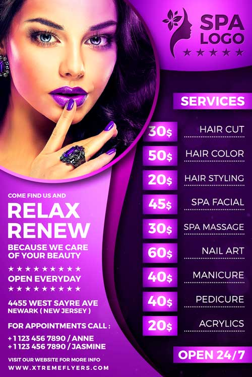 Beauty Salon Flyer Template Xtremeflyers