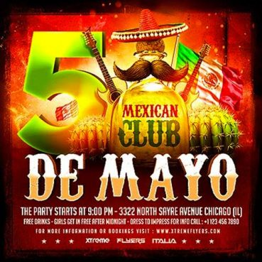 Cinco De Mayo Square Flyer Template