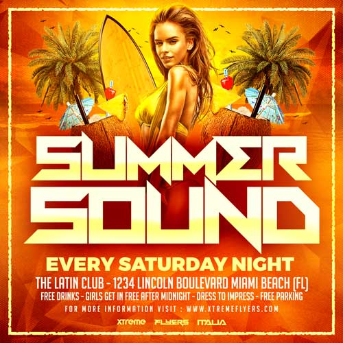 Summer Sound Flyer Template