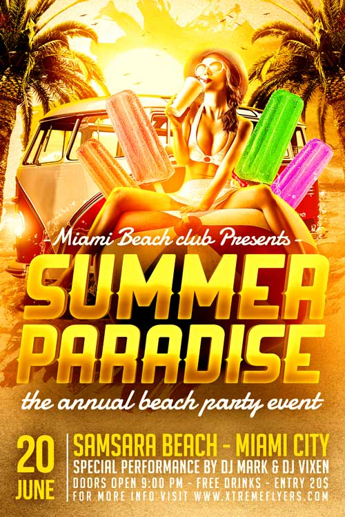 Summer Paradise Flyer Template