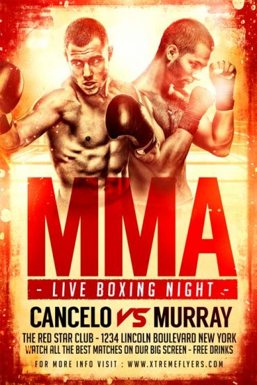 Boxing Match Flyer Template