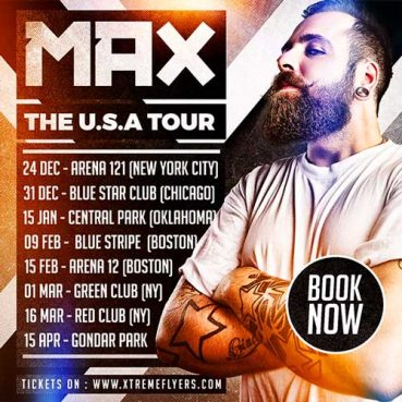 DJ Tour Schedule Flyer Template