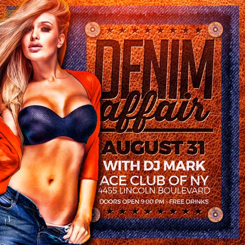 Denim Party Flyer Template