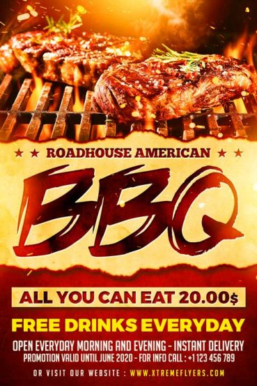 Steakhouse Flyer Template