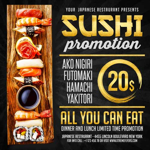 Sushi Flyer Template