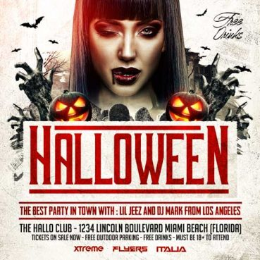 Halloween Square Flyer Template