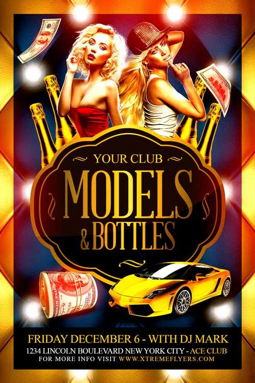 Models and Bottles Flyer Template