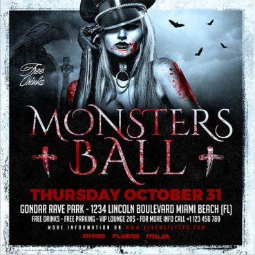 Halloween Ball Flyer Template