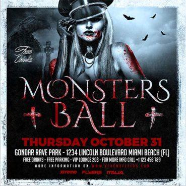 Halloween Ball Flyer Template