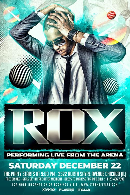 DJ Rox Flyer Template