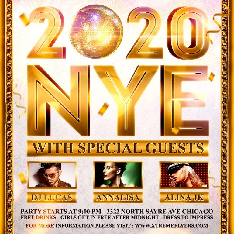 NYE Square Flyer Template