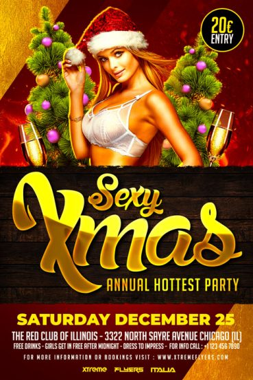 Sexy Xmas Party Flyer Template
